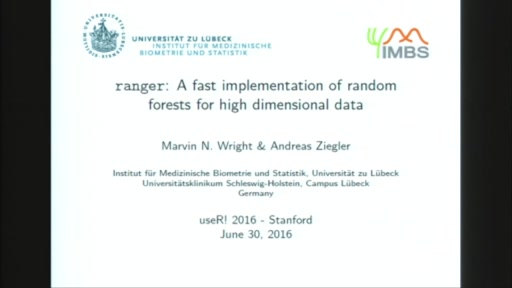 ranger: A fast implementation of random forests for high dimensional data