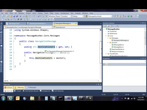 Message Based Navigation for WP7 MVVM Apps
