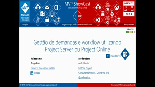 Gestão de demandas e workflow utilizando Project Server ou Project Online