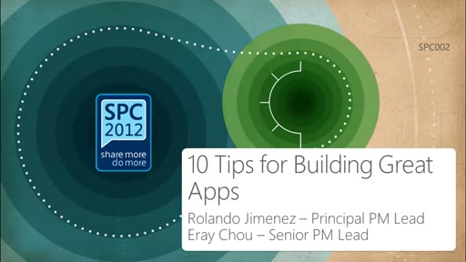 10 Tips for building Great Apps