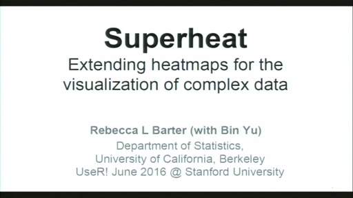 Superheat: Supervised heatmaps for visualizing complex data