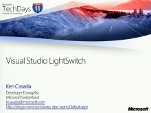 TechDays 11 Basel - Visual Studio Lightswitch