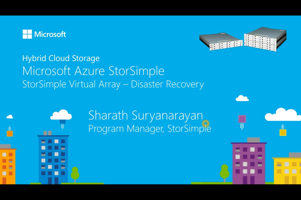 StorSimple Virtual Array Disaster Recovery
