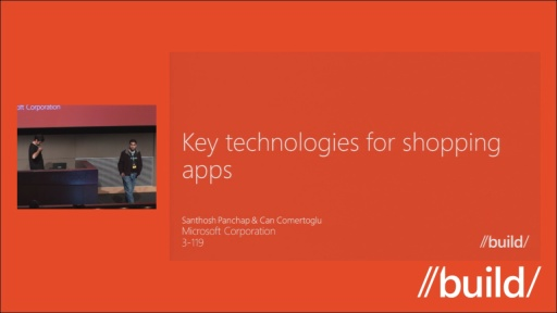 Key technologies for shopping apps