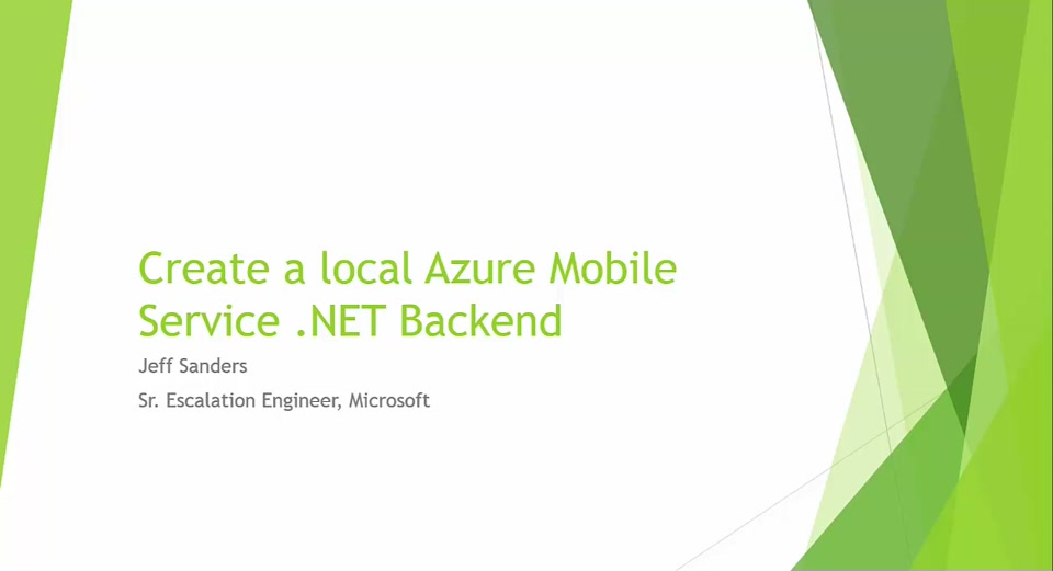 Develop Azure Mobile Services Locally