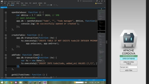 New Cross Platform Cordova WebSQL plugin by MS Open Tech