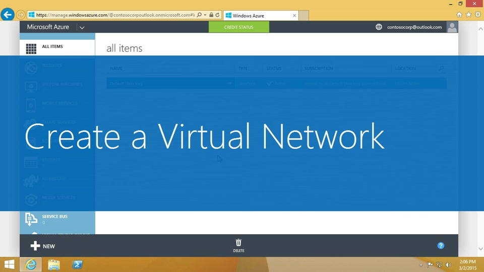 Create a virtual network