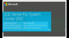 SQL Server 2012 for System Center Administrators