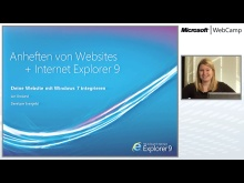 WebCamp - Pinned Sites und weitere Demos
