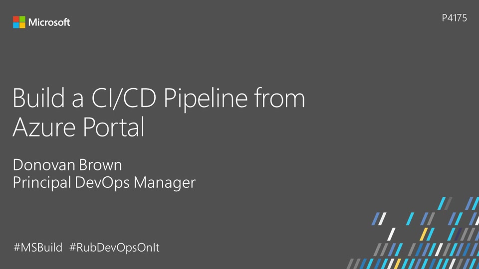 Build a CI/CD pipeline from Microsoft Azure Portal