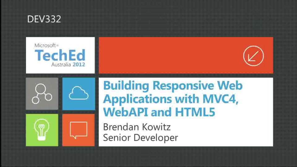 Building Responsive Web Applications with MVC4, WebAPI and HTML5