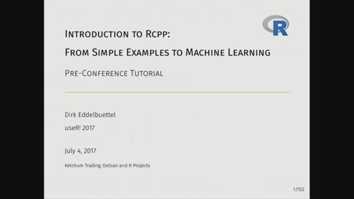 Rcpp: From Simple Examples to Machine Learning