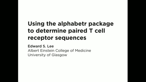 Using the alphabetr package to determine paired T cell receptor sequences