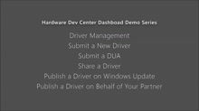 Introducing the new Hardware Developer Center Dashboard - Part 1