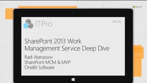 SharePoint 2013 Work Management Service deep dive
