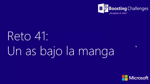 Reto 41: Un as bajo la manga