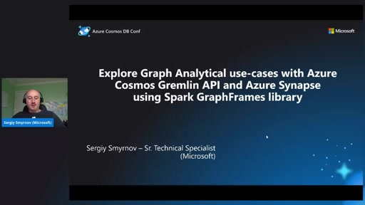 Explore Graph Analytical use-case with Azure Cosmos Gremlin API and Azure Synapse Spark graphframes