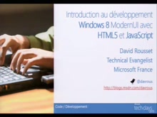Introduction au développement Windows 8 ModernUI avec HTML5 et JavaScript