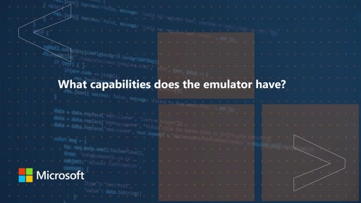 What capabilities does the emulator have | One Dev Question