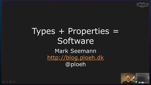 Types + Properties = Software