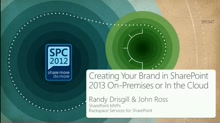 Creating Your Brand in SharePoint 2013 On-Premises or In the Cloud