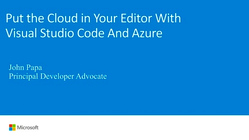Cloud development with Visual Studio Code and Azure