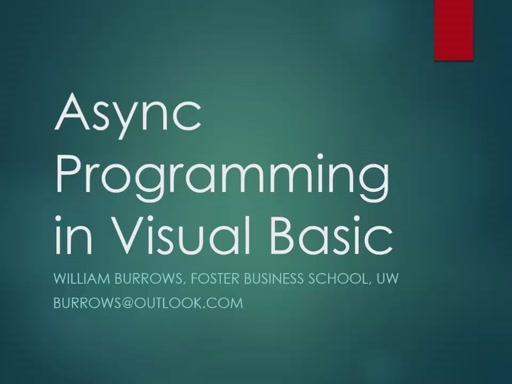 Async and UI Thread with Visual Basic