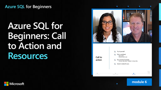 Azure SQL for beginners: Call to Action and Resources (61 of 61)