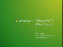 How to leverage the Microsoft Touch Platform in designing new applications and services