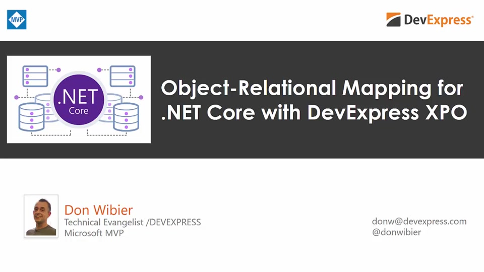 .NET Core 2 Object-Relational Mapping with DevExpress Libraries
