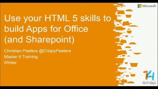 Use your HTML 5 skills to build Apps for Office (and SharePoint)