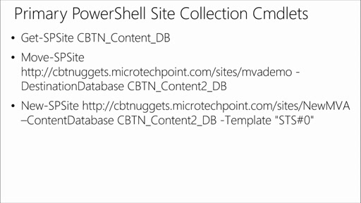 Deploying & Managing SharePoint 2013 with PowerShell: (04) Content Mangement