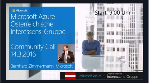 Azure Community Call - März 2016