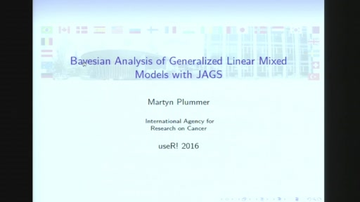 Bayesian analysis of generalized linear mixed models with JAGS