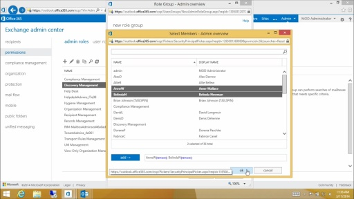 Managing Exchange Online Using Microsoft Online Console: (05) Configuring Administrative Security
