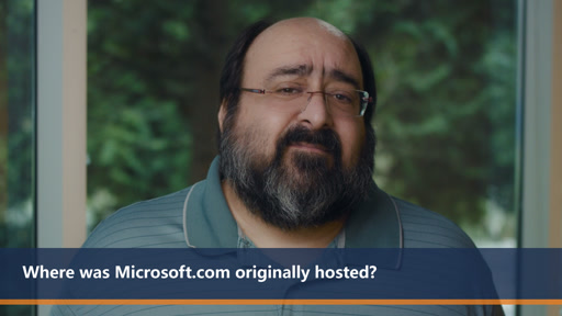 Where was Microsoft.com originally hosted | One Dev Question