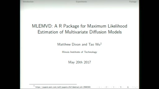 MLEMVD: A R Package for Maximum Likelihood Estimation of Multivariate Diffusion Models