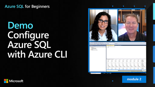 Demo: Configure Azure SQL with Azure CLI (17 of 61)
