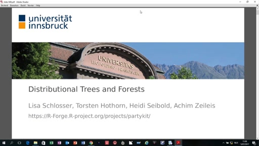 Distributional Trees and Forests