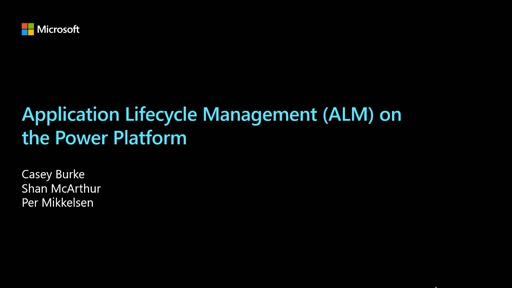 Application Lifecycle Management (ALM) on the Power Platform