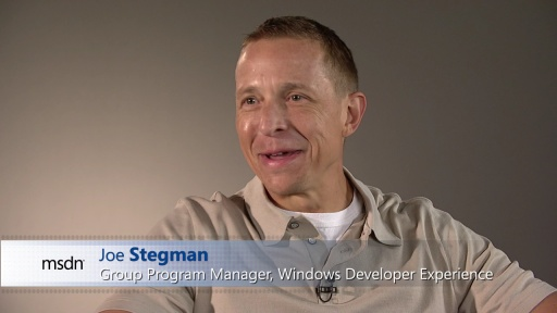 Joe Stegman: Windows 8 User Interface