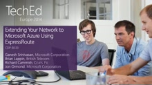 Extending Your Network to Microsoft Azure Using ExpressRoute