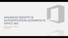 Be-Com E- Communications Event - Collaboration - Advanced Identity & Authentication scenarios for Office 365 (By Michael Van Horenbeeck)
