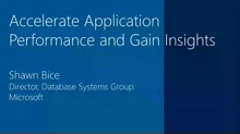 Accelerating Application Performance and Gaining Insights with the Microsoft Data Platform