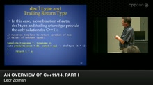 An Overview of C++11/14, Part I