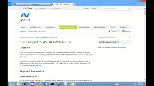 ASP.NET Web API and CORS Support