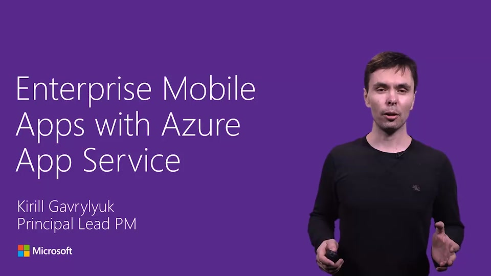 Enterprise Mobile Apps with Azure App Service