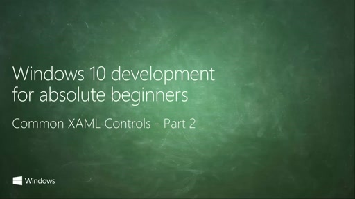 UWP-025 - Common XAML Controls - Part 2