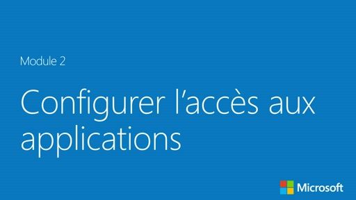 Configurer l'accès aux applications