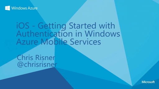 iOS - Getting Started with Authentication in Windows Azure Mobile Services